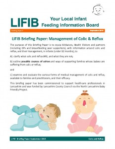 thumbnail of Colic and Reflux Briefing Paper September 2015