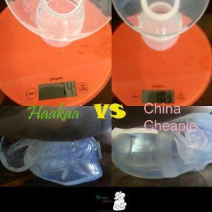 China cheapie v Haakaa on scales